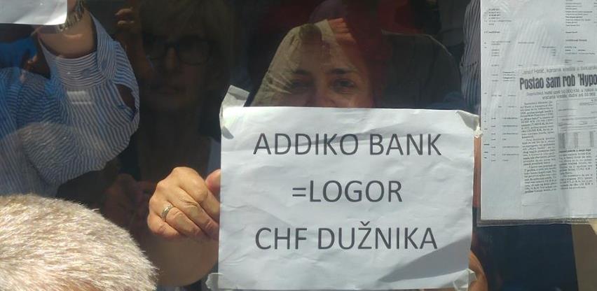 "Udruženje ""Švicarac"" organizovalo novi protest zbog Addiko banke"