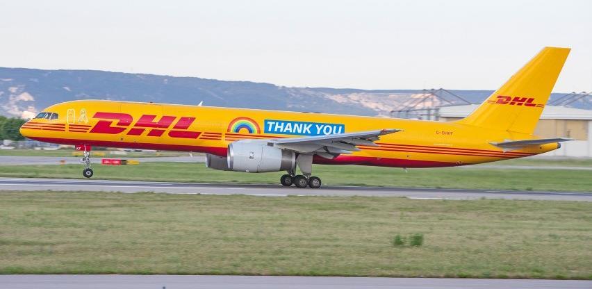 DHL izražava zahvalnost svojim uposlenicima na avionu tipa Boeing 757