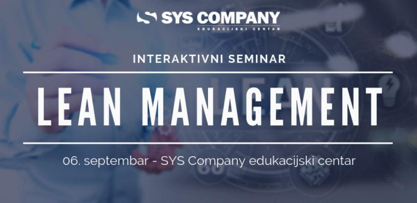 Seminar: Lean management