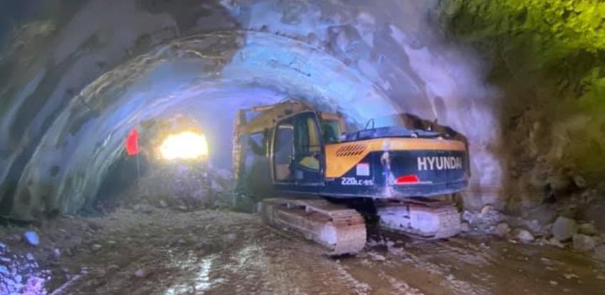 Probijen tunel Počitelj dužine 1.163 metra
