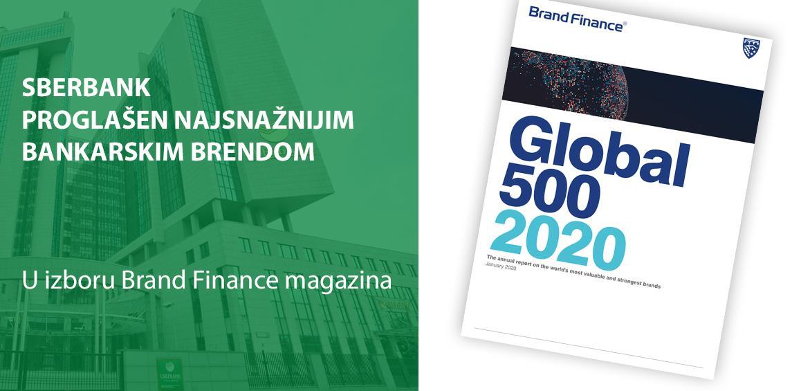 Brand Finance: Sberbank opet imenovana najsnažnijim bankarskim brendom