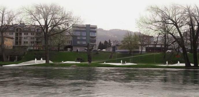 Počela izgradnja mola na obali rijeke Vrbas