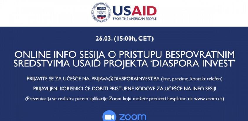 USAID projekt Diaspora Invest online sesijom okuplja investitore