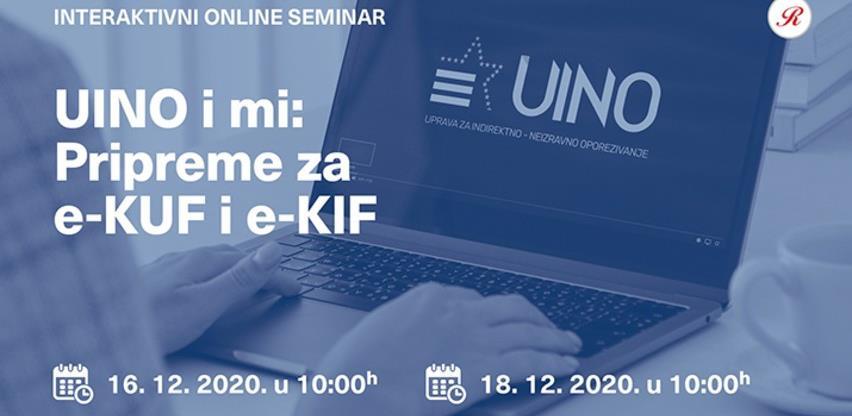 Revicon interaktivni seminari: UINO i MI: Pripreme za E-KUF i E-KIF