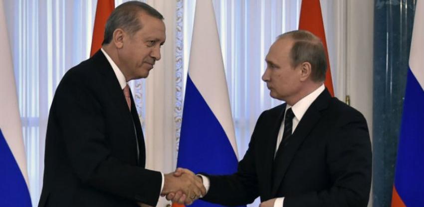 Putin i Erdogan obilježili dovršenje ključne faze Turskog toka