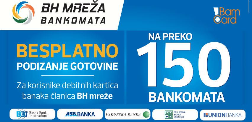 Besplatno podizanje gotovine na više od 150 bankomata u BiH
