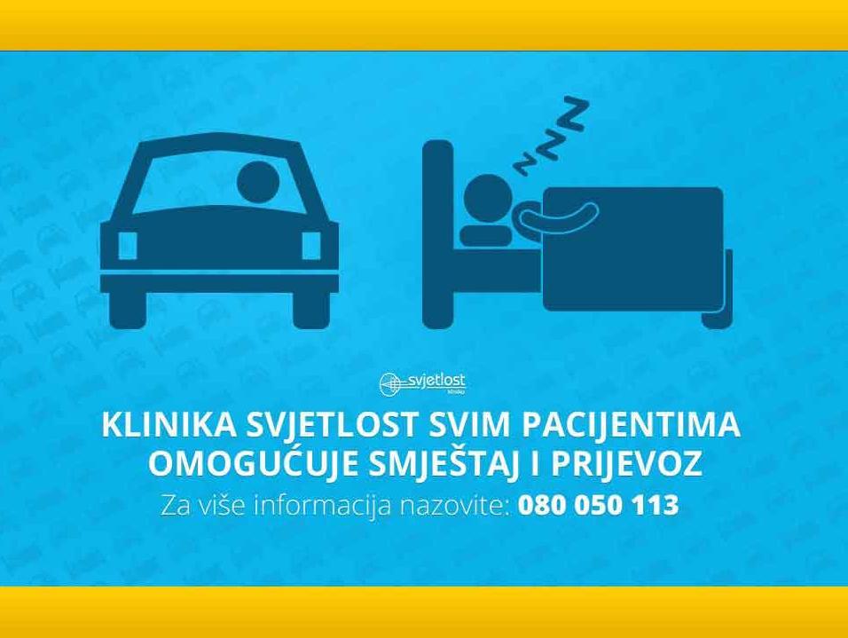 Klinika Svjetlost Banja Luka: Smještaj i prijevoz do klinike