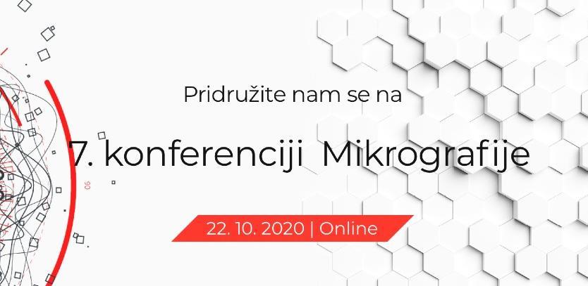 7. online konferencija Mikrografije 22. oktobra
