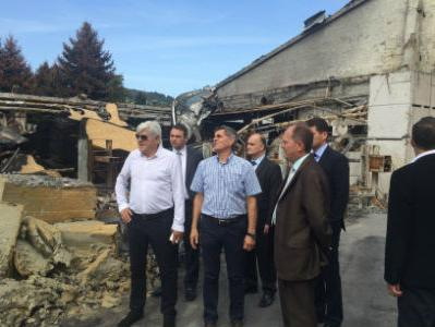 """Uprava Wiener osiguranja obišla zgarište i pogone tvornice """"Krivaja"""""""