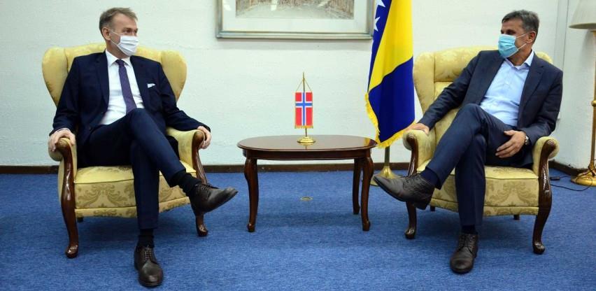 Bilateralni odnosi Norveške i BiH na veoma visokom nivou