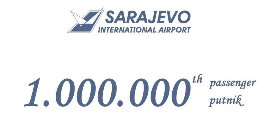Kroz Međunarodni aerodrom Sarajevo prošao milioniti putnik u 2019. godini