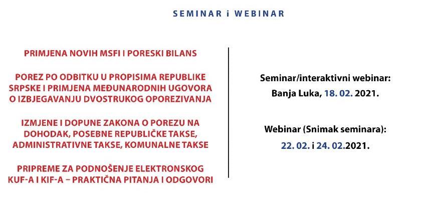 REC: Primjena novih MSFI i poreski bilans