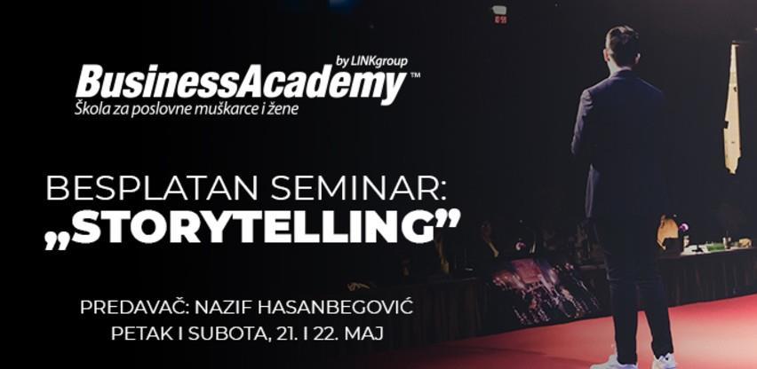 Besplatni seminar BusinessAcademy: Kako je storytelling postao osnova svakog poslovnog poduhvata