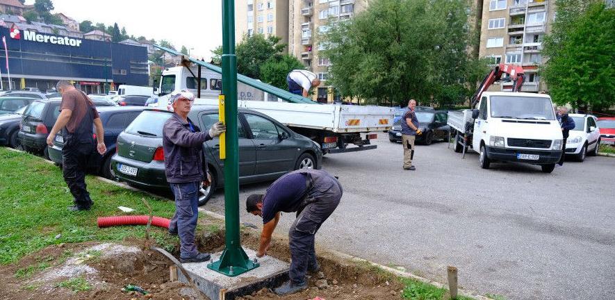 Obnavlja se rasvjeta na parkinzima u općini Novi Grad