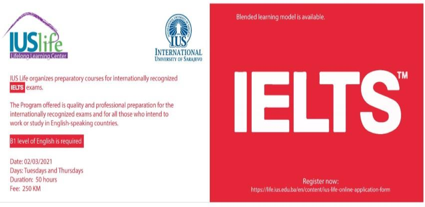 IUS Lifelong Learning Center organizes Blended Learning - IELTS Preparation Course