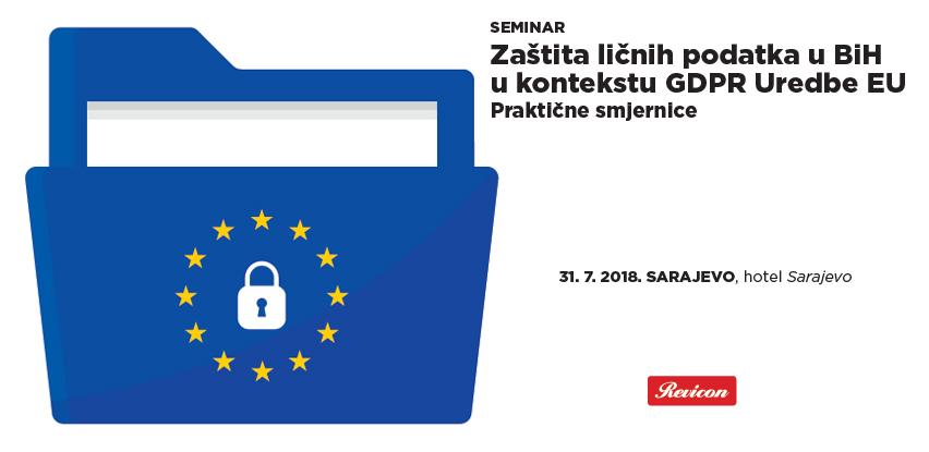 Zaštita ličnih podatka u BiH u kontekstu GDPR Uredbe EU - Praktične smjernice