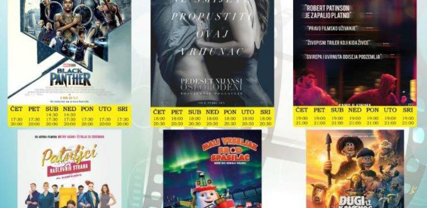 Novi filmovi u Multiplex Ekranu Zenica