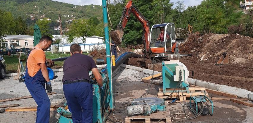 """Zamijenjene vodovodne cijevi na poslovnoj zoni """"UNIS"""""""