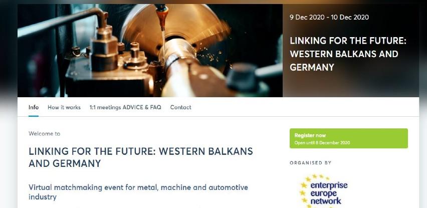 """Poslovni susreti """"Povezivanje za budućnost: Zapadni Balkan i Njemačka"""""""