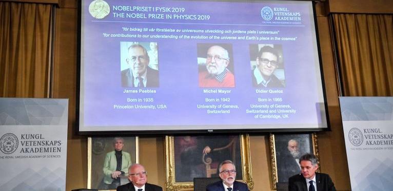 Tri dobitnika Nobelove nagrade za fiziku