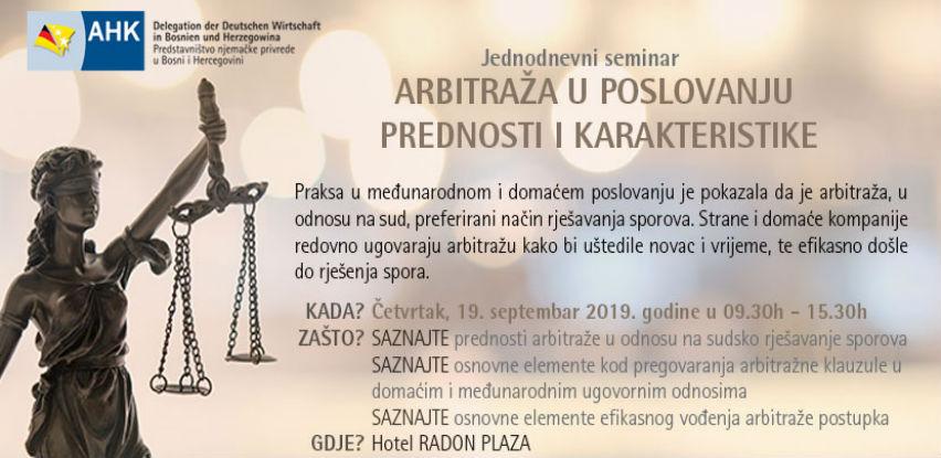 "AHK seminar: ""Arbitraža u poslovanju – Prednosti i karakteristike"""