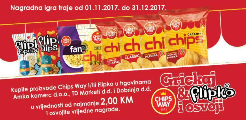 Grickaj Chips Way & Flipko i osvoji jednu od vrijednih nagrada