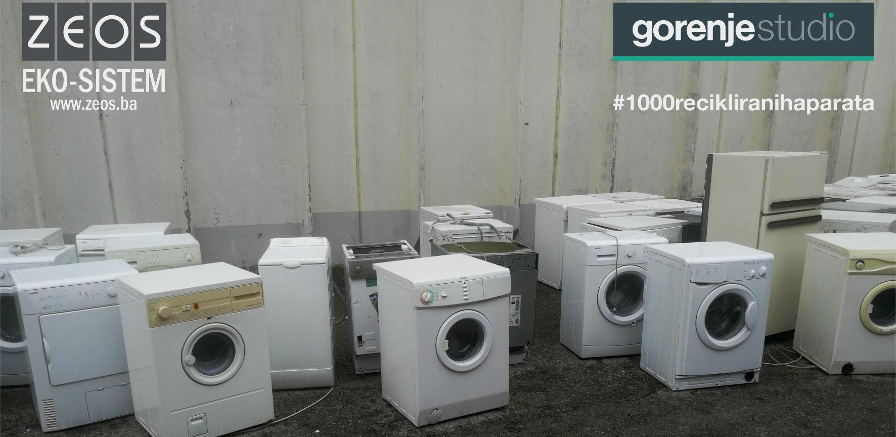 U BiH do sada prikupljeno i zbrinuto 313 starih kućanskih aparata