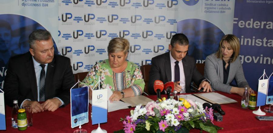 UPFBiH i Sindikat trgovine potpisali Kolektivni ugovor