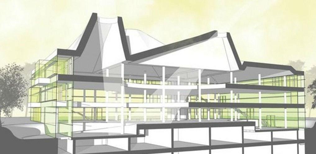 Gradnja zgrade Univerzitetske biblioteke u drugoj polovini godine