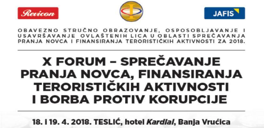 X Revicon forum u Tesliću: Sprečavanje pranja novca i borba protiv korupcije
