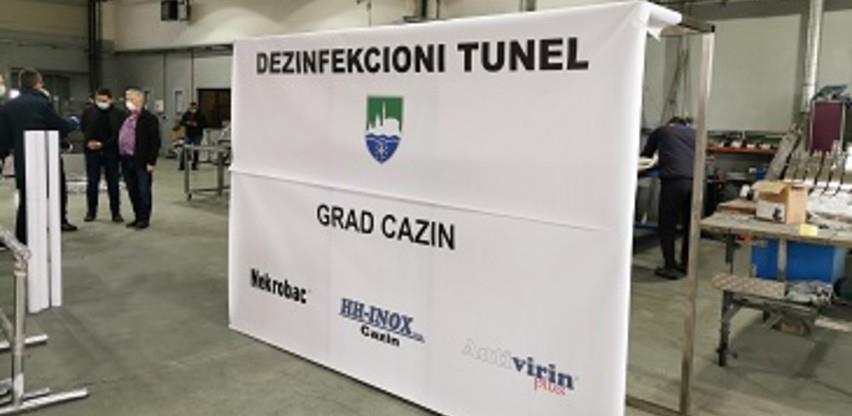 U Cazinu se proizvode dezinfekcijski tuneli: Prvi tunel od srijede u funkciji