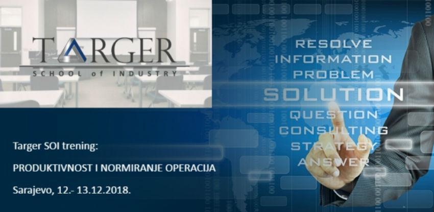 Targer School of Industry trening:Produktivnost i normiranje operacija