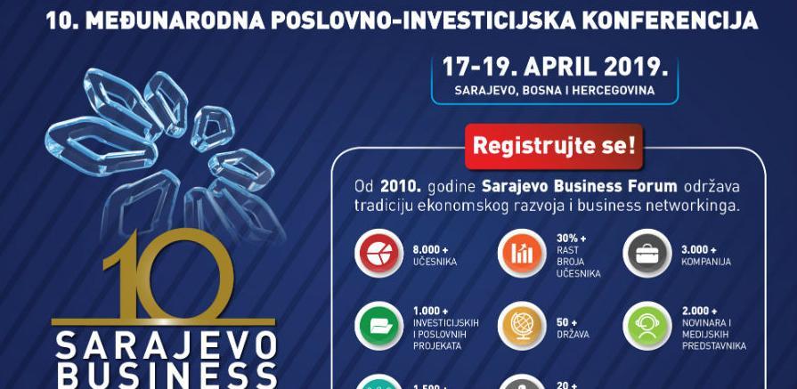 Otvorena on-line registracija za učesnike desetog Sarajevo Business Foruma