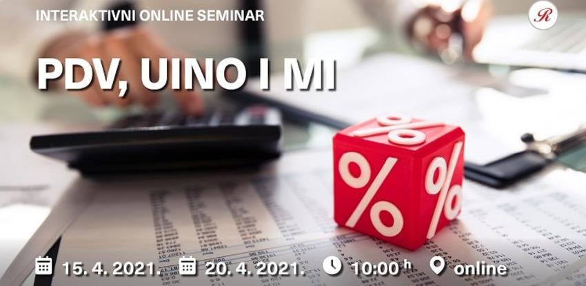Novi interaktivni online seminari: PDV, UINO i mi