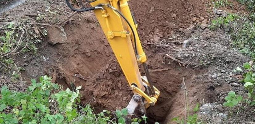 Geološki istražni radovi na lokaciji budućeg postrojenja za prečišćavanje otpadnih voda u Zenici