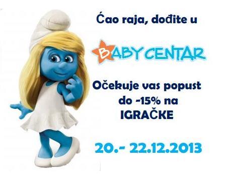Posjetite Baby Centar i ovaj vikend očekuje vas popust do-15% na igračke