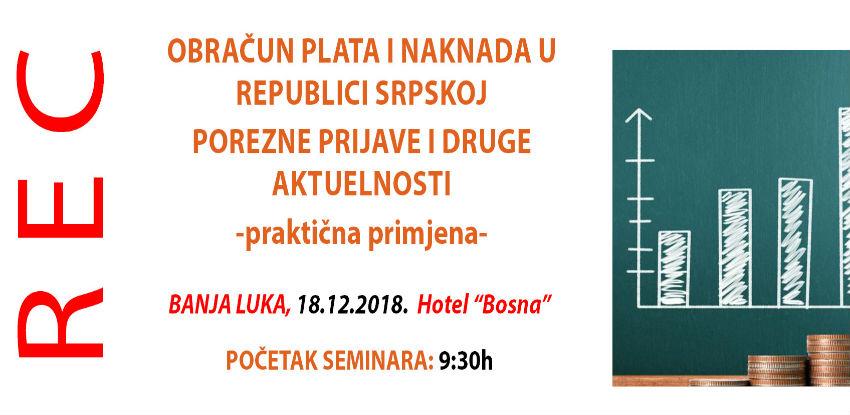 REC seminar: Obračun plata i naknada u Republici Srpskoj
