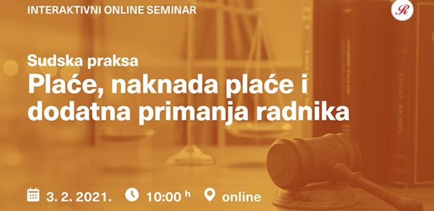 Novi Revicon online seminar: Plaće, naknade plaće i dodatna primanja radnika