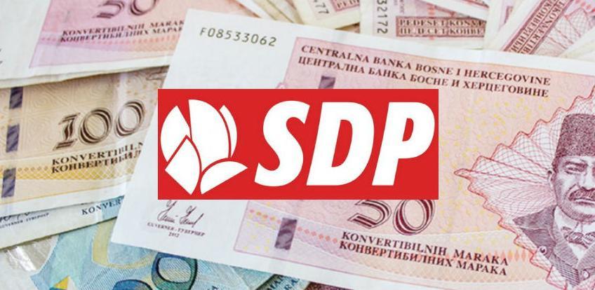 Ukupni prihodi SDP-a u 2015. godini iznosili 2.910.361 KM