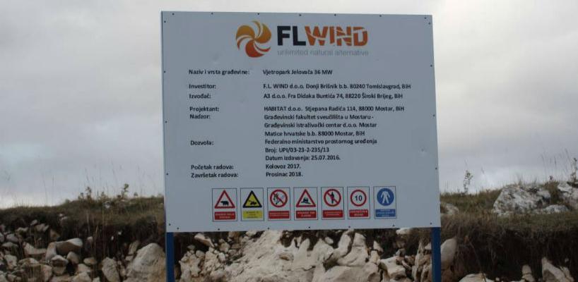 Niče i druga vjetroelektrana u Tomislavgradu - Vjetropark Jelovača