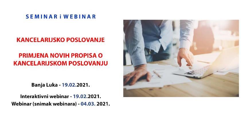 REC seminar: Primjena novih propisa o kancelarijskom poslovanju