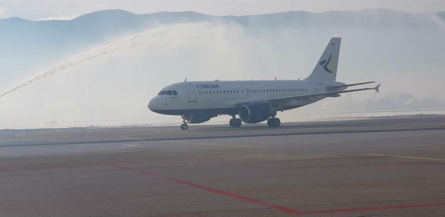 Na Međunarodni aerodrom Sarajevo sletio je prvi avion kompanije Flybosnia