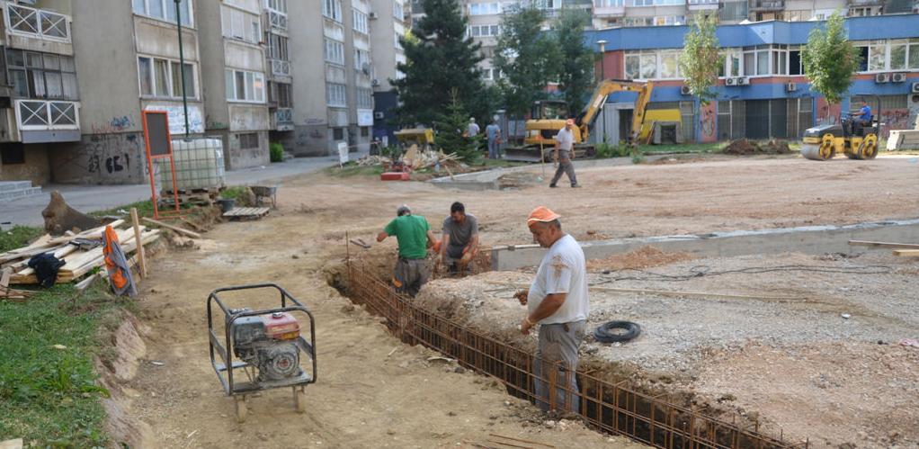 Izgradnja dječijeg igrališta u Ulici Envera Šehovića