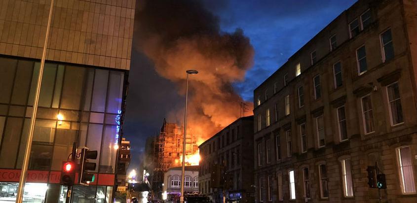 Umjetnička akademija u Glasgowu stradala u požaru