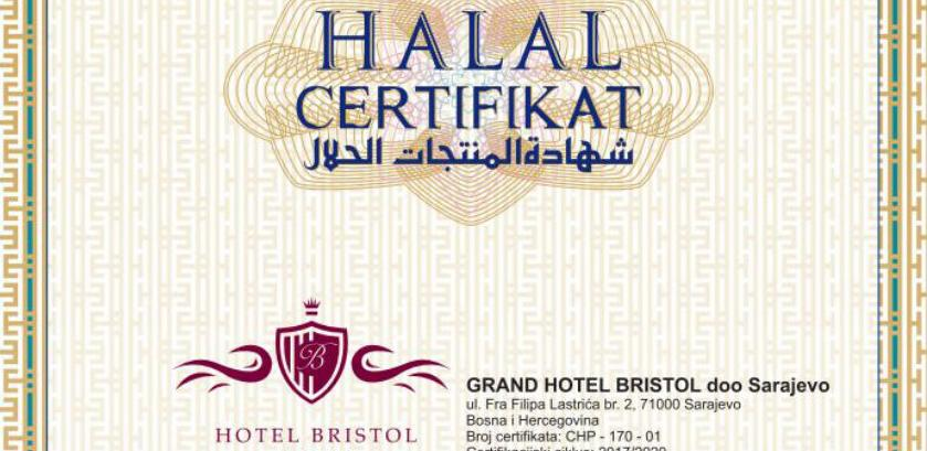 Hotel Bristol: Halal certifikat za sve hotelske usluge