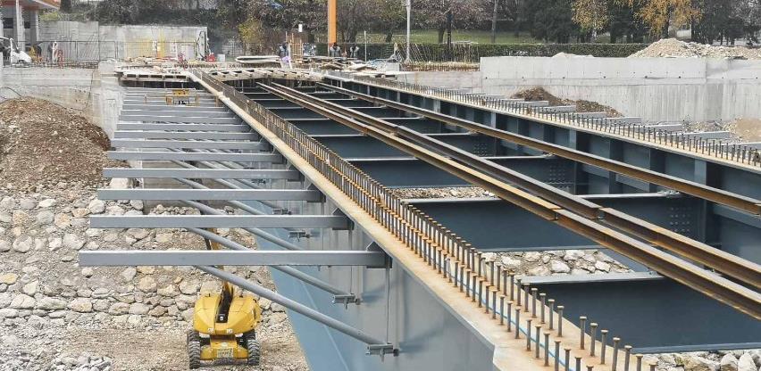 Završni radovi na izgradnji mosta u banjalučkim Toplicama