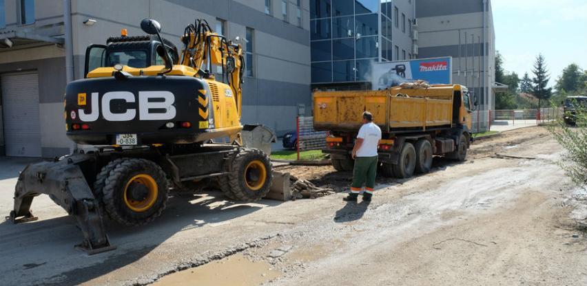 U toku sanacija saobraćajnice u industrijskoj zoni Bačići
