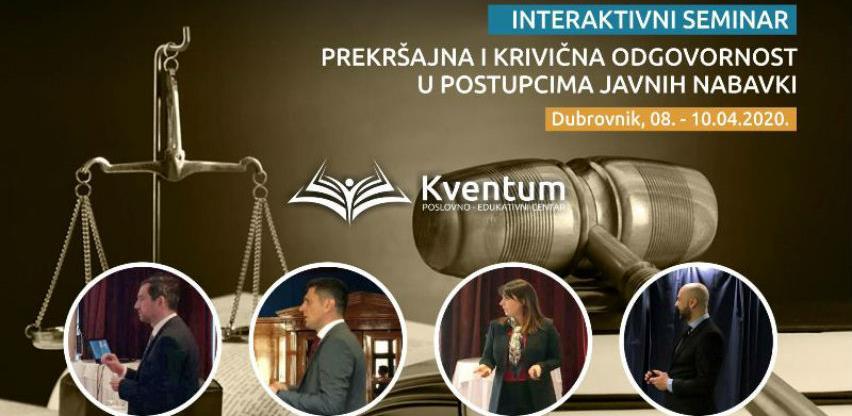 Interaktivni seminar: Prekršajna i krivična odgovornost u javnim nabavkama