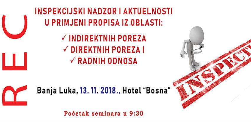REC seminar: Inspekcijski nadzor u Republici Srpskoj