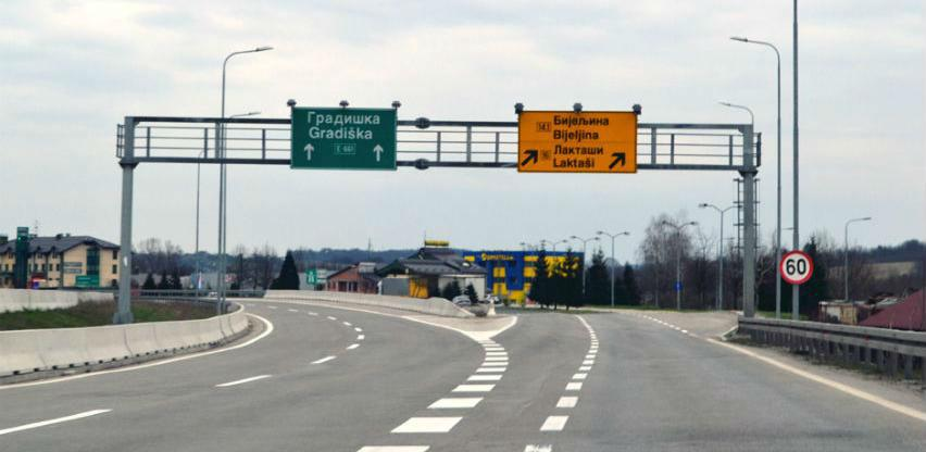 Naplata putarina po kilometru od oktobra na autoputu Banjaluka-Gradiška